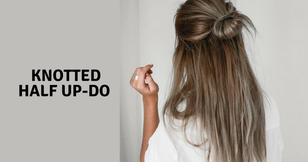 Knotted Half Up-Do